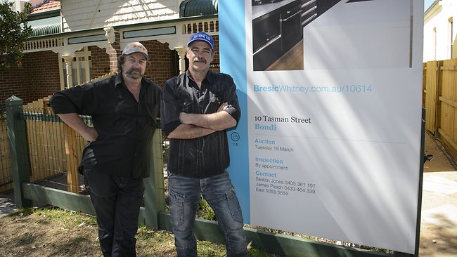 Mark and Duncan before the auction. Picture: Supplied