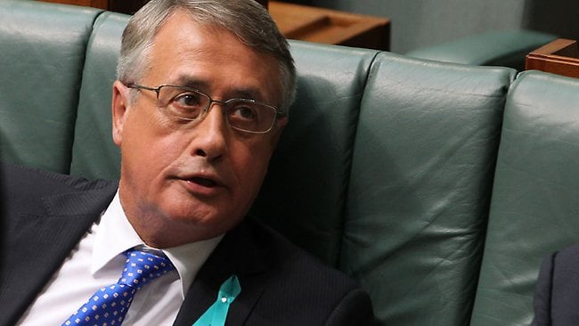 Wayne Swan's pamphlet claimed the Budget surplus had been delivered. Picture: Gary Ramage