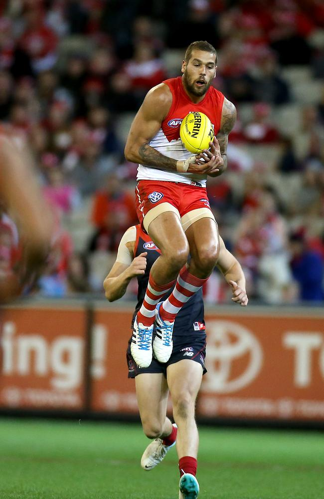 Franklin has fitted into the Sydney forward line with aplomb. Picture: Wayne Ludbey