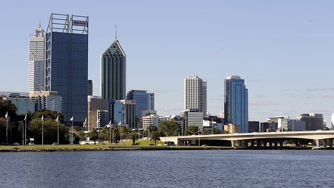 Generic pics of Perth taken from the Swan Brewery. Birdlife and jetty. Picture: Daniel Wilkins