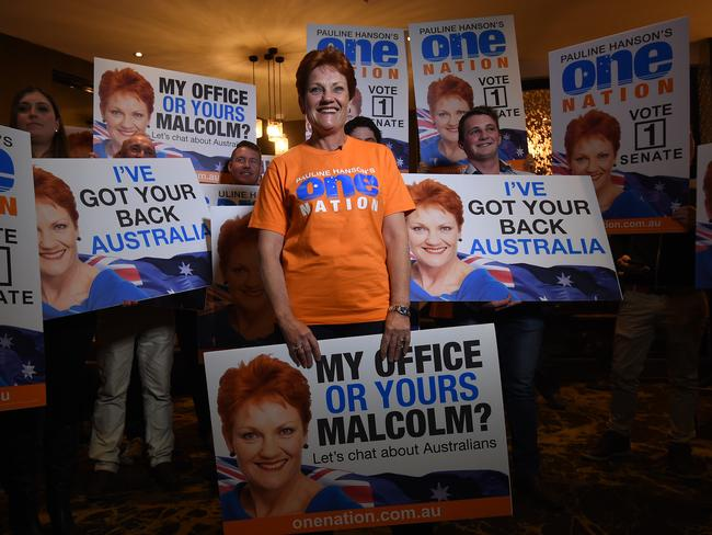 Pauline Hanson is planning on increasing One Nation's influence. Picture: Dan Peled/AAP