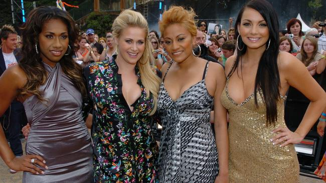 Flashback ... Young Divas girl group Paulini Curuenavuli, Kate DeAraugo, Emily Williams and Ricki-Lee Coulter in 2006.