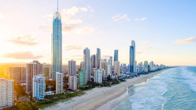 Land values have increased in some areas of the Gold Coast.