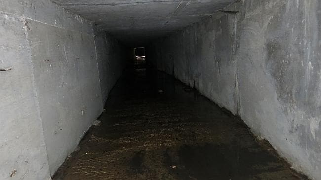 "Underground lair ... tunnels in the city's drainage system that infamous drug boss Joaquin Guzman Loera, ""El Chapo"" used to evade authorities, is shown, in Culiacan, Mexico. Picture: Adriana Gomez"