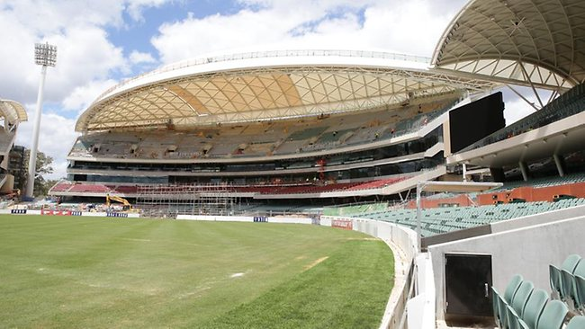 One of the new stands at the new-look Adelaide Oval. Picture: Sarah Reed.