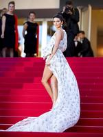 "Model Kendall Jenner attends the ""120 Beats Per Minute (120 Battements Par Minute)"" screening during the 70th annual Cannes Film Festival at Palais des Festivals on May 20, 2017 in Cannes, France. Picture: Getty"