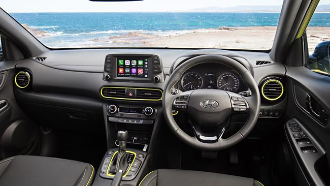 Kona Highlander: Interior is colour matched to exterior.