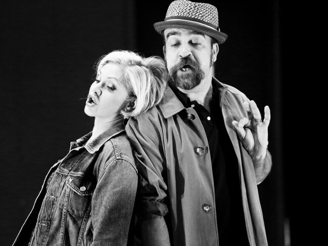 Orfeh as Kit De Luca and Eric Anderson as Mr. Thompson in rehearsal for Pretty Woman. Photo: Chad David Kraus