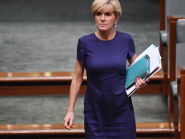 Julie Bishop will meet with US Secretary of State Rex Tillerson for the second time. Picture: AAP/Lukas Coch