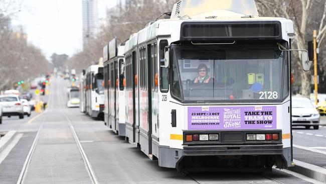 Melbourne has the largest tram system in the world, but transport growth in the city is being outpaced by population growth. Picture: AAP.