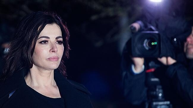 Nigella Lawson in the spotlight outside lIsleworth Crown Court. (Matthew Lloyd/Getty Images)