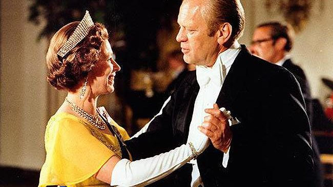 Queen with US Presidents: President Gerald R. Ford dances with Queen Elizabeth II at the White House in 1976. Photo: AP/White House