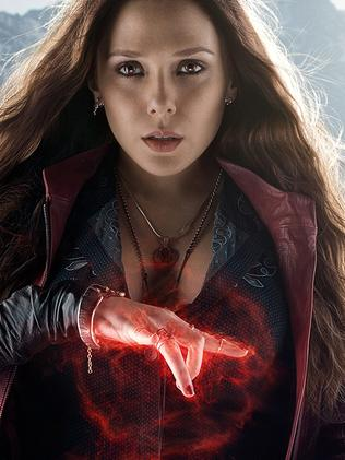 Scarlet Witch (played by Elizabeth Olsen) in Avengers: Age of Ultron.