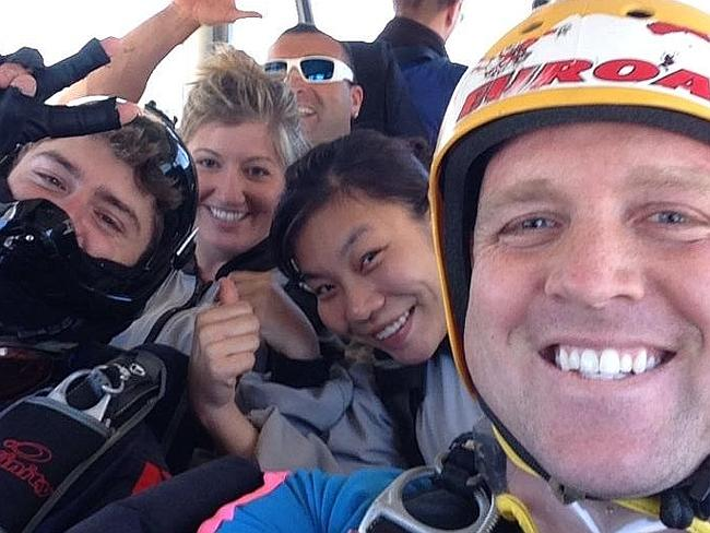 One of the last photos taken of Brandon McGraw on his final skydive in Australia.
