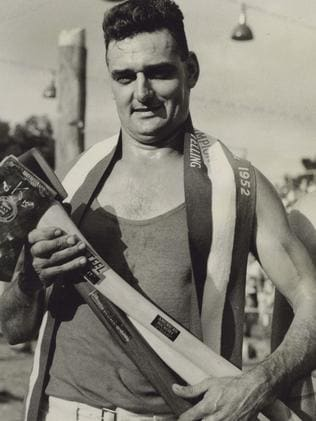 One of the champion woodchoppers back in the day. Picture: Vic Summers