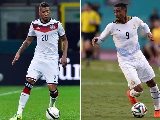 Not brotherly love ... Germany's defender Jerome Boateng will face off against his brother, Ghana's forward Kevin-Prince Boateng at the World Cup. Picture: AFP