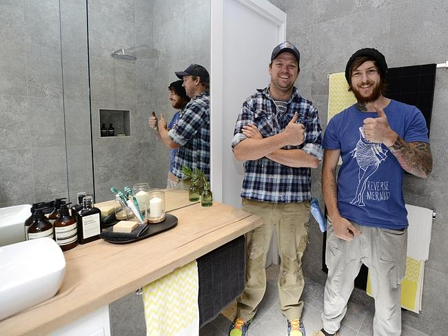 Most consistent of all units ... Brad Cranfield and Dale Vines in their bathroom. Picture