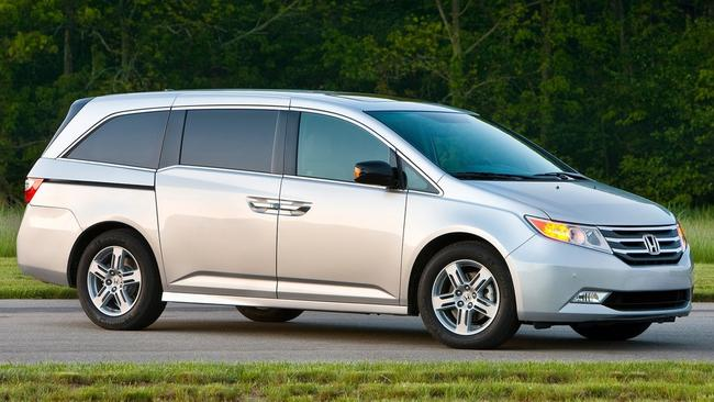 Thinking ahead ... the Honda Odyssey with car sickness curving back window.