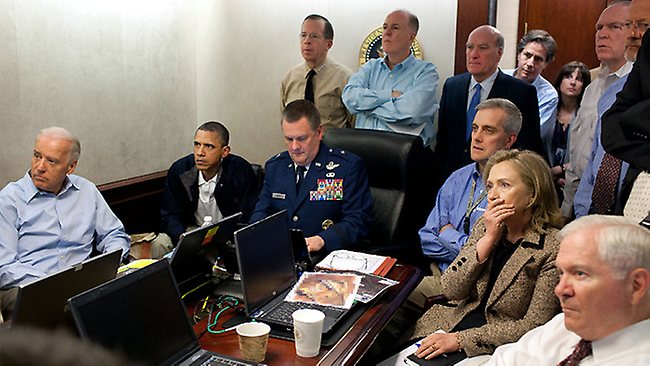 Obama, Clinton watch bin Laden raid