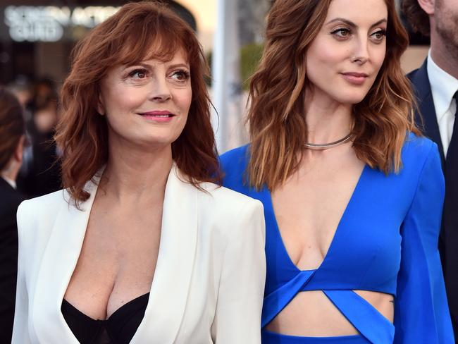 Susan Sarandon's boobs and Eva Amurri on the SAG red carpet. Picture: Alberto E. Rodriguez/Getty Images