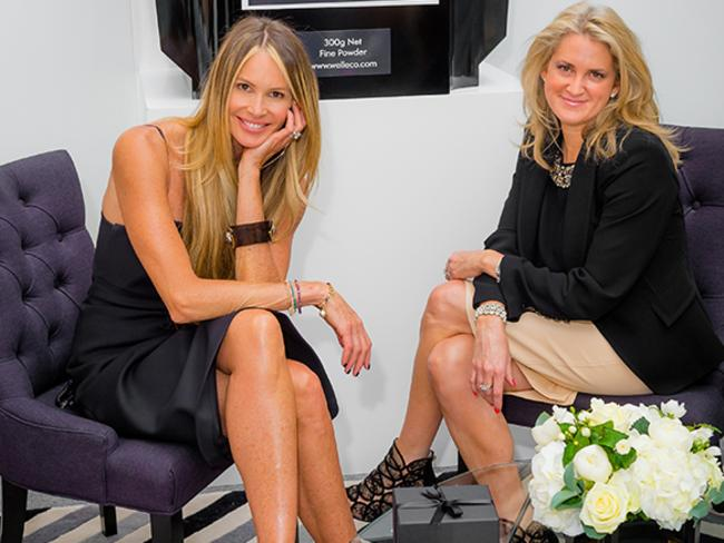Natural remedy ... Elle Macpherson with her nutritionist, Dr Simone Laubscher. Picture: Supplied