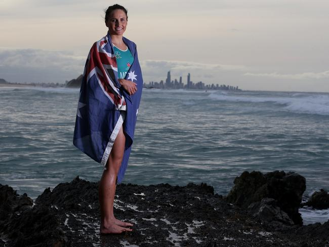 Triathlete Emma Moffatt is a strong gold medal chance.