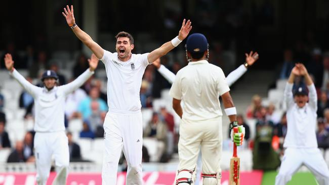 ... as does bowler Jimmy Anderson. Picture: Getty
