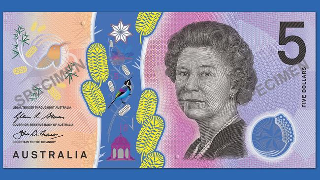 Australia's $5 note gets rise from the blind