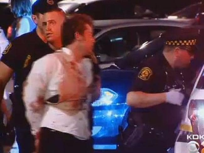 Brawl ... Groomsman Brian Taylor was also arrested. Picture: KDKA