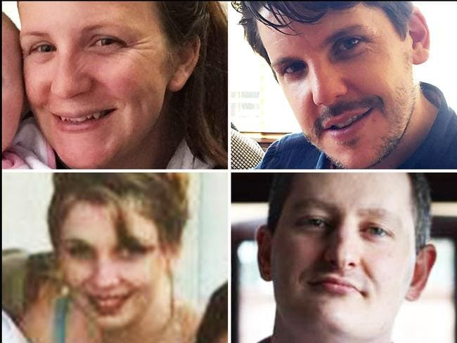 Kate Goodchild, Luke Dorsett, Roozi Araghi and Cindy Low were killed in the Dreamworld disaster last year. Picture: Supplied