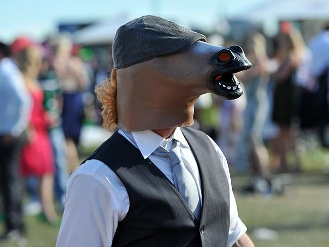And a little horsing around with your best horse head. Picture: AAP