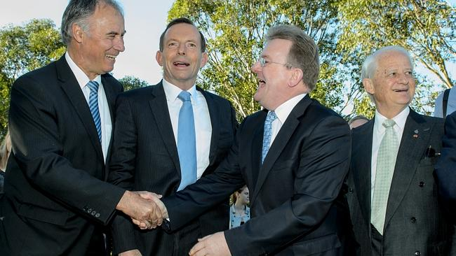 John Alexander, Tony Abbott, Bruce Bilson and Philip Ruddock pictured at an event in Sydney last year.