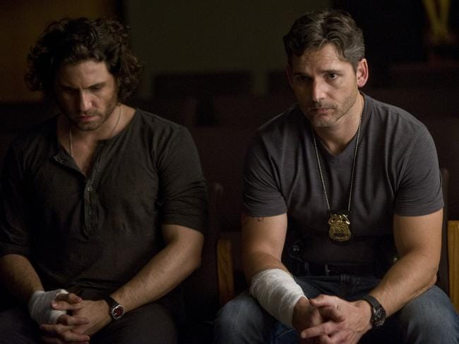 Sarchie (Bana) confesses his past deeds to Mendoza (Edgar Ramirez) in a scene from the film.
