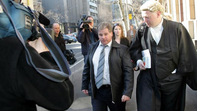 Rob Farquharson arrives at the Supreme court wherer he is facing charges regarding the deaths of his three children who drownded when a car he was driving went into a dam and sank Picture: David Crosling