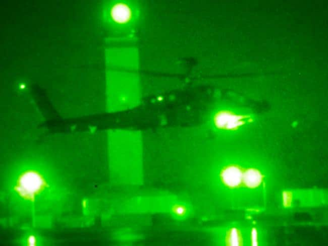 The exercise involved 16 AH64 Apache choppers coming together to destroy a target. Picture: US Army