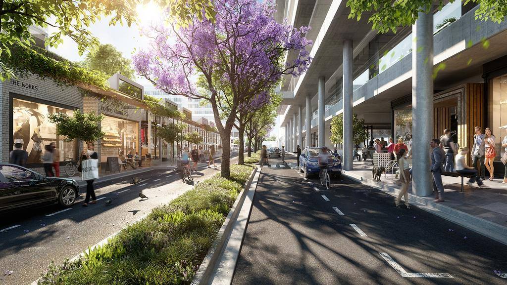 An artist's impression of one of Laguna North Lakes retail and hospitality laneways.