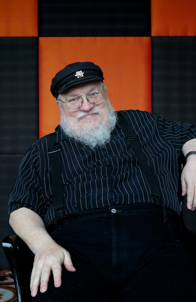 Power behind the thrones ... George. R.R. Martin is feeling the pressure as the immensely popular TV show based on his series of novels catches up with his written work.