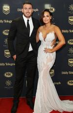 Darius Boyd of the Broncos with wife Kayla Boyd arrive ahead of the 2017 Dally M Awards at The Star on September 27, 2017 in Sydney, Australia. Picture: Mark Metcalfe/Getty Images