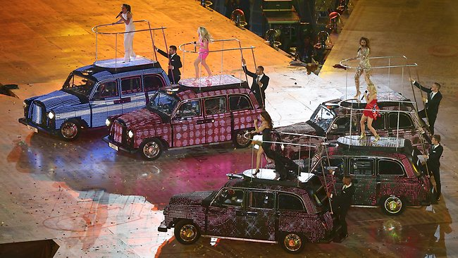 The Spice Girls perform during the Olympic closing ceremony.