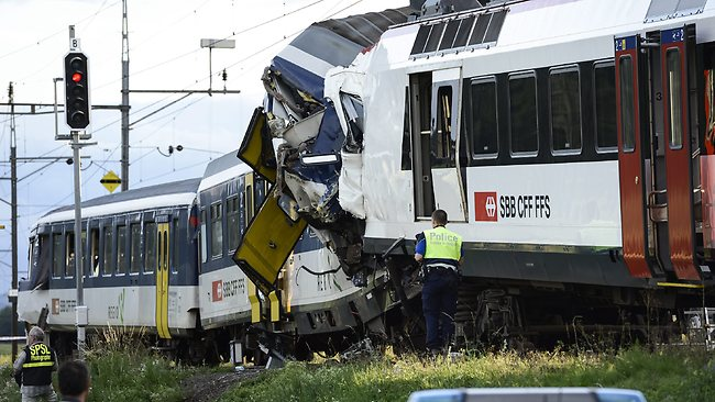 Switzerland Train Collision