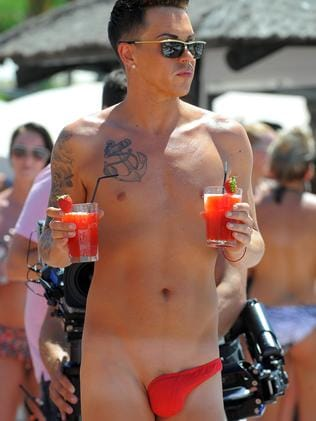 Bobby Norris filming at Plaza beach club for the new Towie series.