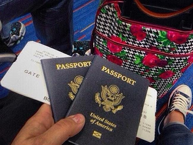 His last Instagram ... Beverly Brignoni shows off her passport and boarding tickets as sh