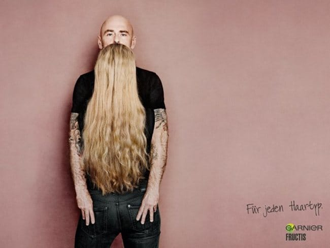 This Ganier ad in Sweden makes you look twice. Picture: Supplied