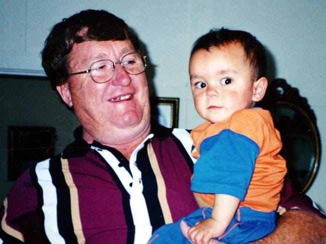 Kevin Ruffels and son Daniel Thomas. Mr Ruffels and Daniel's mother Donna Thomas separated when Daniel was 12 months old.