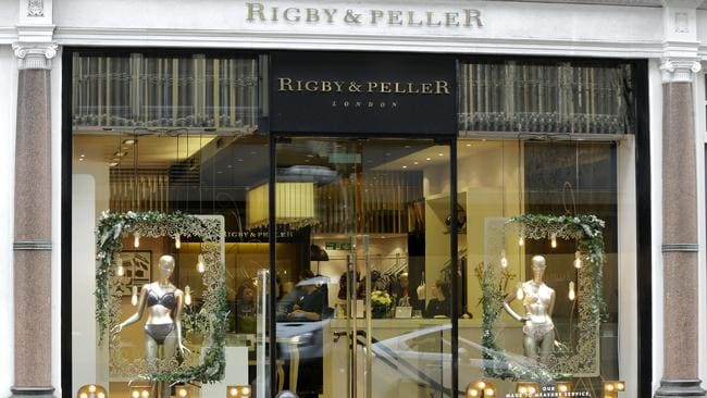 Lingerie boutique Rigby & Peller in Chelsea, London. Picture: Alastair Grant/AFP