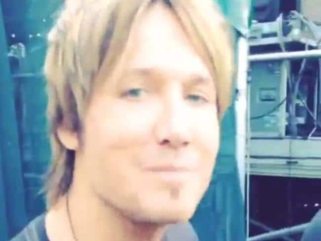 All fired up ... Keith Urban greets his fans before taking to the stage in Central Park in footage he posted online. Picture: Instagram