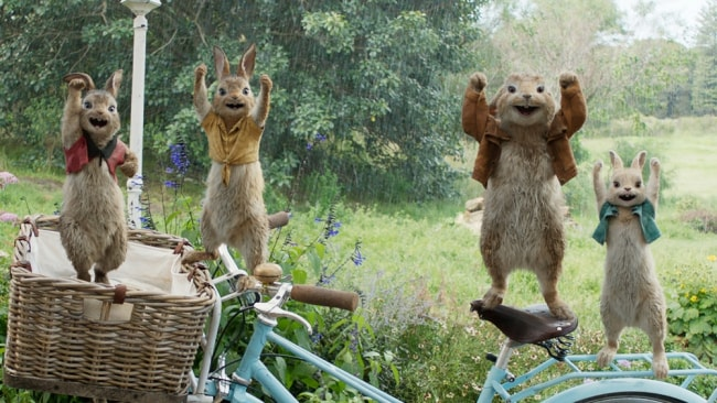 The bunnies in 'Peter Rabbit'. Photo: Sony