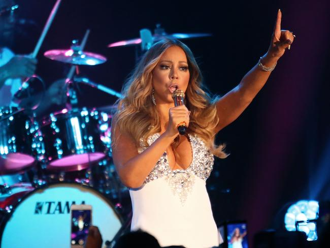 Star attraction ... Mariah Carey performs at Crown Casino's New Year's Eve Party. Picture: Scott Barbour/Getty Images