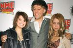 <p>Singer Bob Geldof with his daughters Pixie (l) and Peaches, as they arrive for the NME Awards 2006, at the Hammersmith Palais, West London.</p>