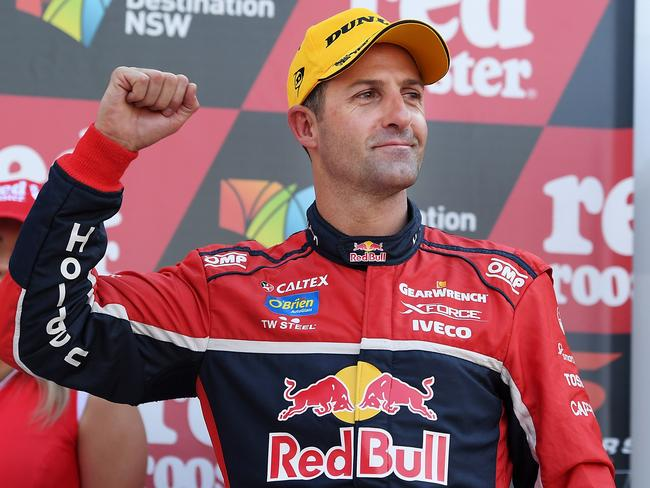 Jamie Whincup hates being in the chasing pack.